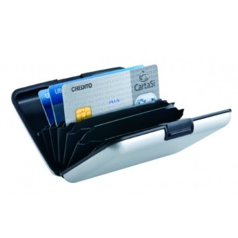 TICKET/CARD HOLDER IN ALUMINIUM