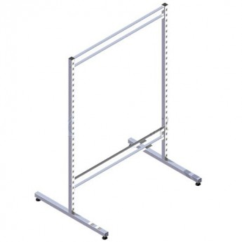 GARMENT RAILS CAN BE EQUIPPED