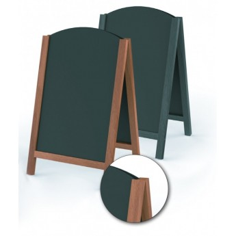 WRITABLE ROUND WOODEN EASEL