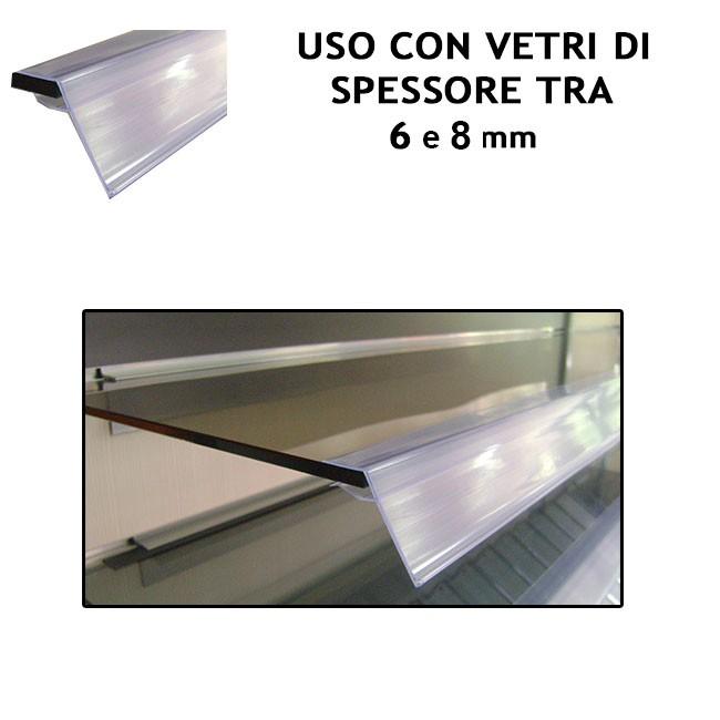 Profilo ad incastro per ripiani in vetro display shop - Vetro per porta prezzo ...