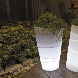 LED LIGHTED VASE-PALM