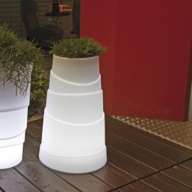 LED LIGHTED VASE-COCONUT