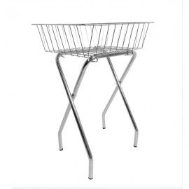 BASKET WITH FOLDING STAND