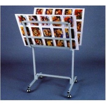 POSTER HOLDER STAND WITH WHEELS