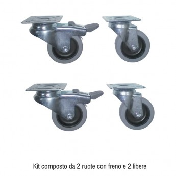 4 WHEEL KIT with PLATE