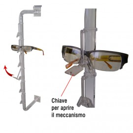 DOOR-GLASSES WITH ANTI-SHOPLIFTING FOR SLATWALL