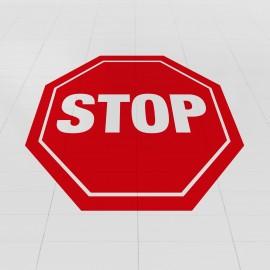 n. 5 ADESIVI CALPESTABILI 'STOP'