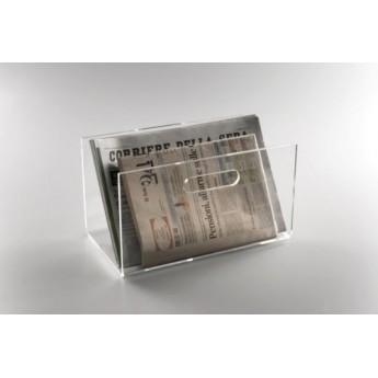 Porta riviste da tavolo in acrilico trasparente - Porta bandiere da tavolo ...